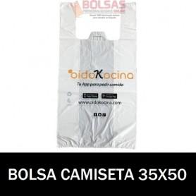 BOLSAS DE PLASTICO ASA CAMISETA IMPRESA 35X50 G.70
