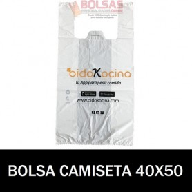 BOLSAS DE PLASTICO ASA CAMISETA IMPRESA 40X50 G.70