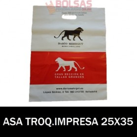 BOLSAS DE PLASTICO ASA TROQUELADA IMPRESAS 25x35 G.200