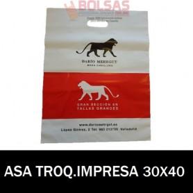 BOLSAS DE PLASTICO ASA TROQUELADA IMPRESAS 30X40 G.200