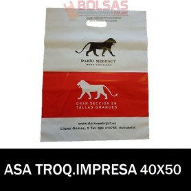 BOLSAS DE PLASTICO ASA TROQUELADA IMPRESAS 40x50 G.200