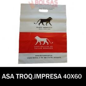 BOLSAS DE PLASTICO ASA TROQUELADA IMPRESAS 40X60 G.200