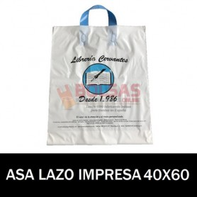 BOLSAS DE PLASTICO ASA DE LAZO IMPRESAS 40x60 G200