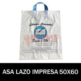 BOLSAS DE PLASTICO ASA DE LAZO IMPRESAS 50X60 G200